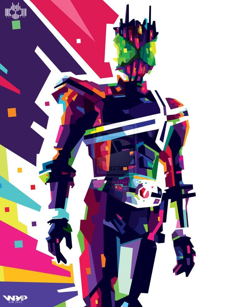 Kamen Rider Decade WPAP by dapit17.deviantart.com on @deviantART