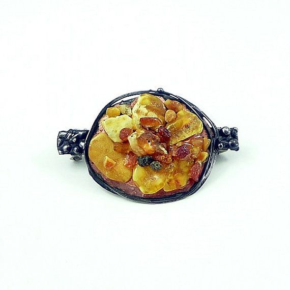 Hairpin rare baltic amber hair barrette. GIFT by keram on Etsy, $59.00