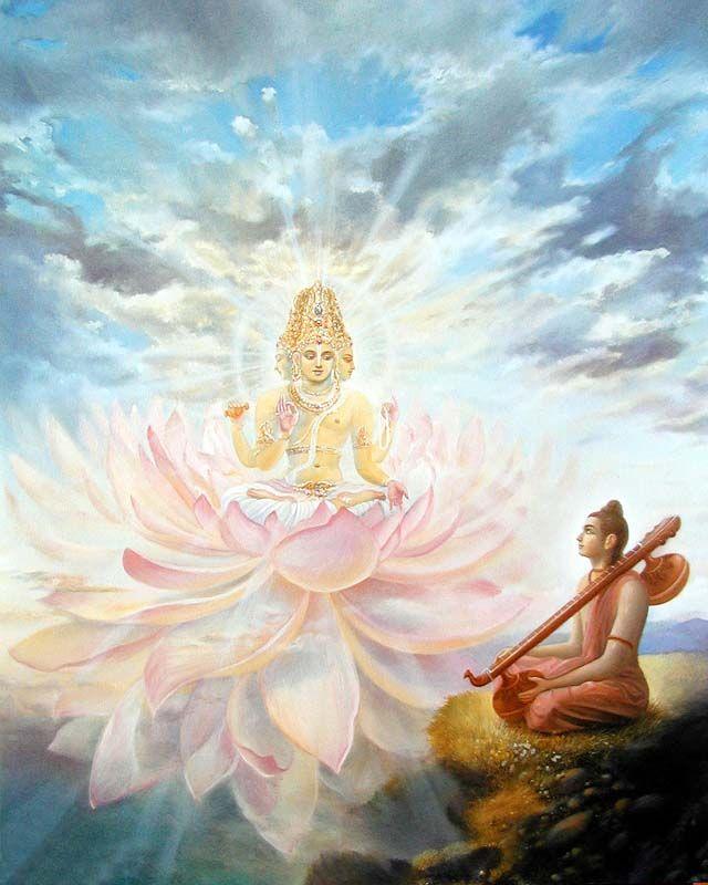 Lord Brahma with son Narada