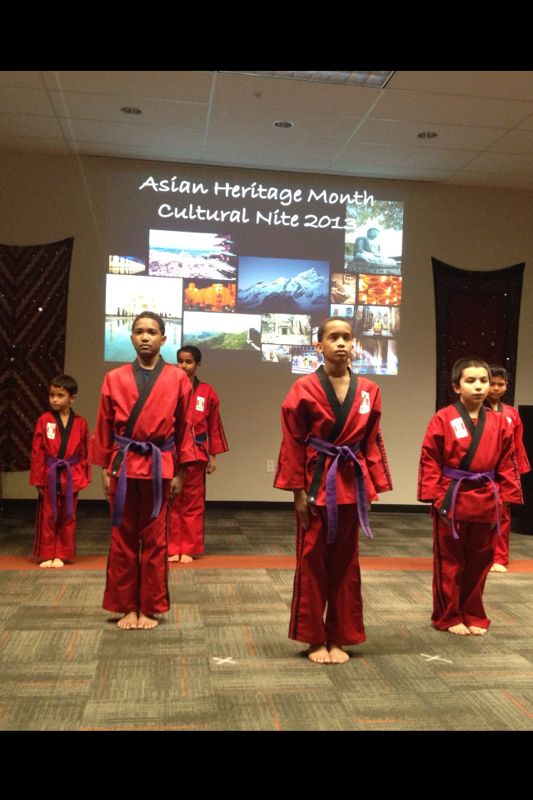 Karate Academy Demo team.