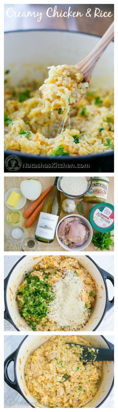 Creamy Chicken and Rice Recipe (a one-pot meal).