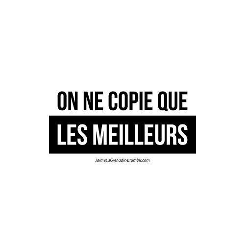 On ne copie que les meilleurs - #JaimeLaGrenadine