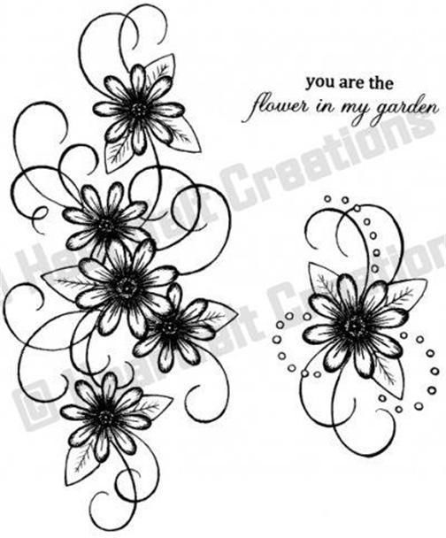 Heartfelt Creations Daisy Patch Swirls Flowers Cling Rubber Stamp Set PC3324 #HeartfeltCreations