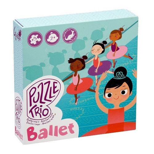 Toddler Jigsaw Puzzles Glottogon Ballet Trio Puzzle Set of 3 Gift Boxed.  www.greenanttoys.com.au