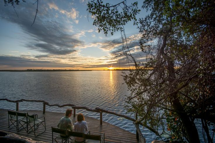 Looking out from the deck at Guma Lagoon Camp. Photo by Melanie van Zyl