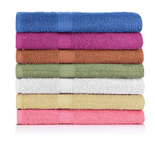 Crystaltowels 7 Pack Bath Towels Extra Absorbent 100 Cotton