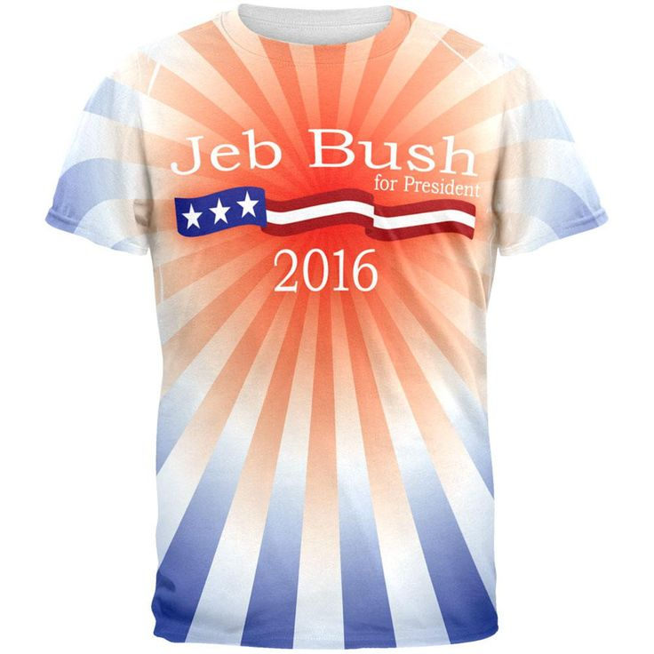 Election Jeb Bush President 2016 All Over Adult T-Shirt