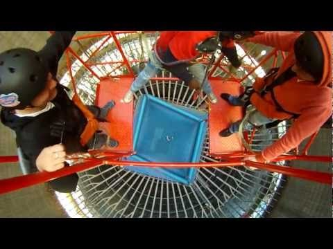 Get high by free falling 70m down a cooling tower in Johannesburg