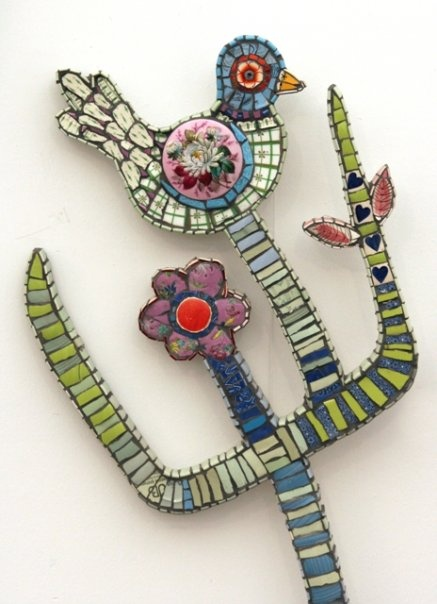 Cleo MussiMosaics Cactii, Mosaics Art, Birds Art, Inspiration Mosaics, Mosaics Birds, Mosaics Design, Cleo Mussie, Mosaics Crafts, Mosaics Ideas