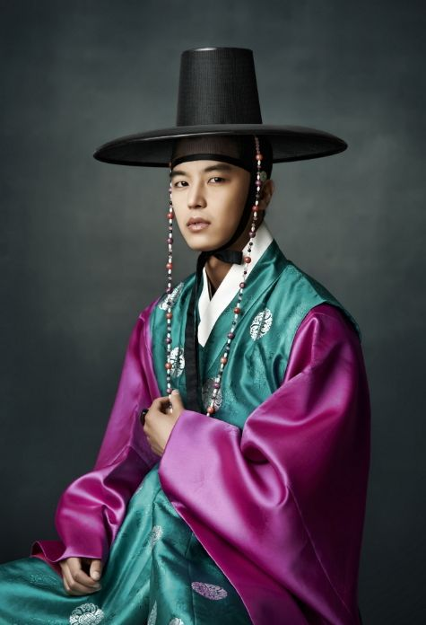 The Gat is a type of Korean traditional hat worn by men during the Joseon Dynasty. It is made from horsehair, with a bamboo frame, and is partly transparent in black color. Married and middle class men could wear the gat, which represented their social status and protected their topknots (sangtu, 상투). The black gat (heungnip, 黑笠, 흑립) were restricted to men who had passed the Gwageo examination.