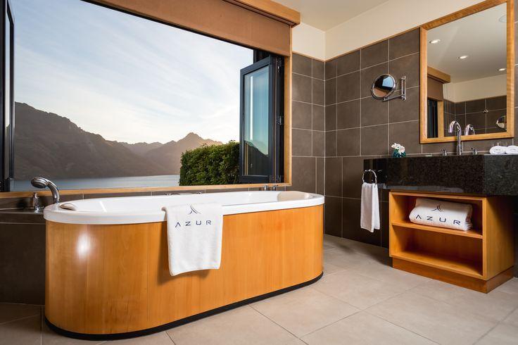 A truly unique bath experience #UniqueSleeps #AzurLodge #Queenstown #LuxuryLodges #Bathroom #Design
