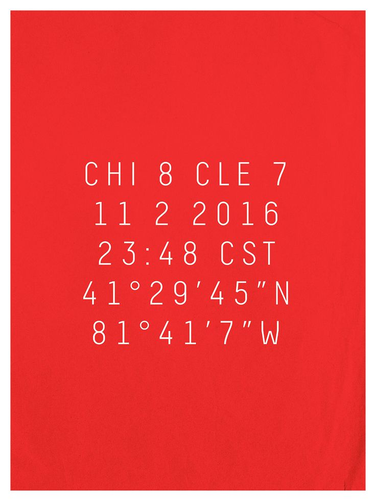 Cubs Are Gonna Win Today / A graphic tribute to the 2016 Chicago Cubs