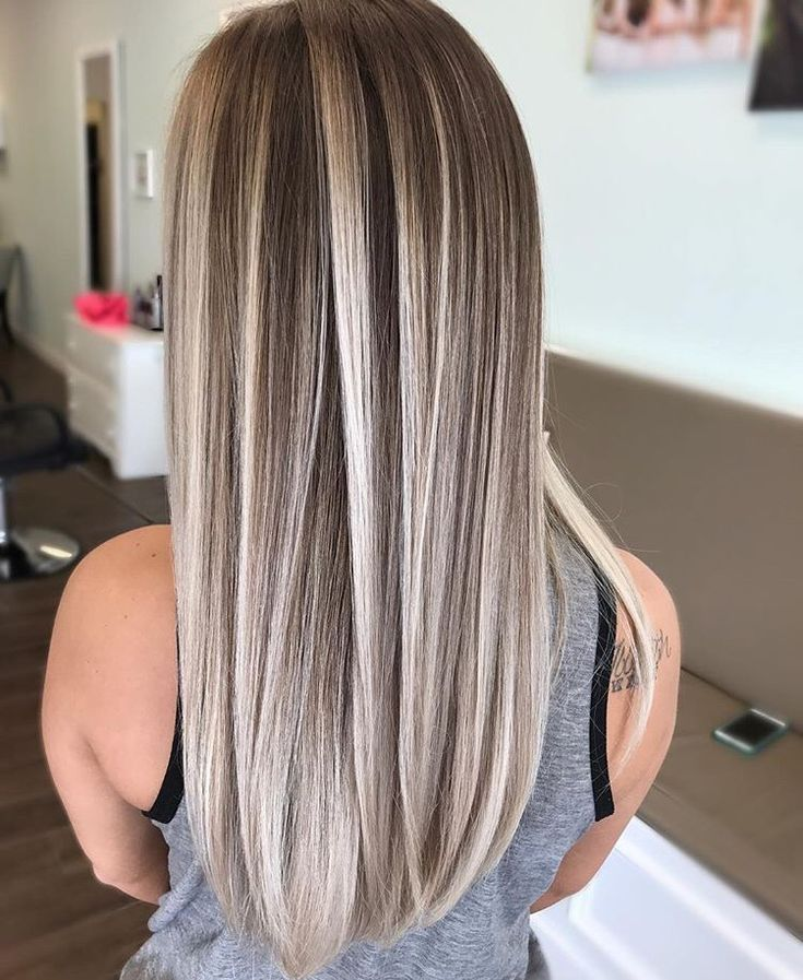 Icy blonde highlights.