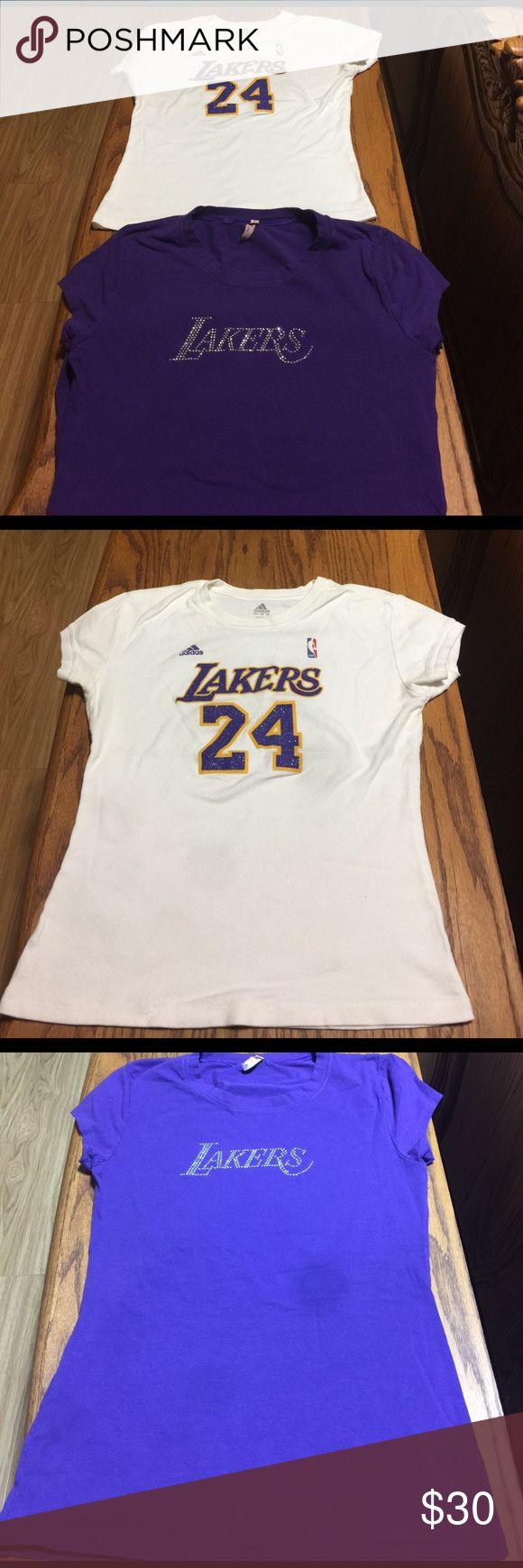 Two  NBA t-shirts at retired now Laker Kobe Bryant woman tees Adidas Tops Tees - Short Sleeve