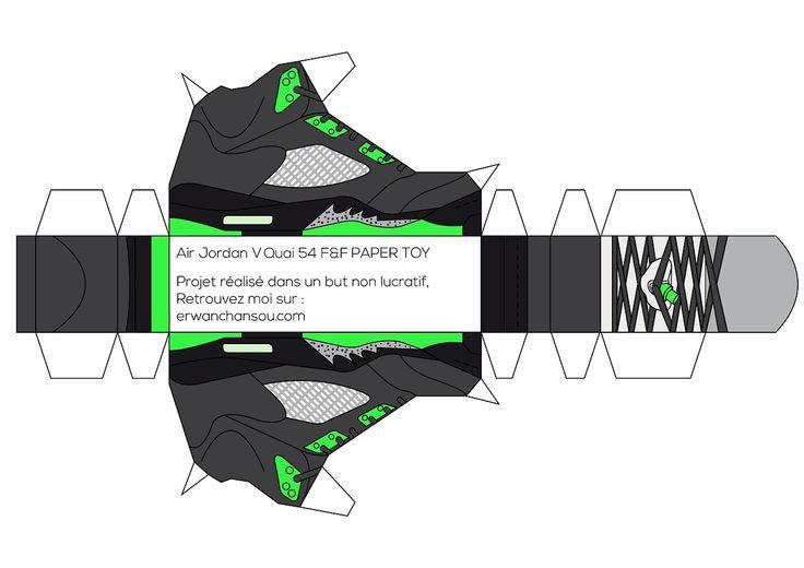 Air Jordan V Paper toys by Erwan | Throwback Sneakers