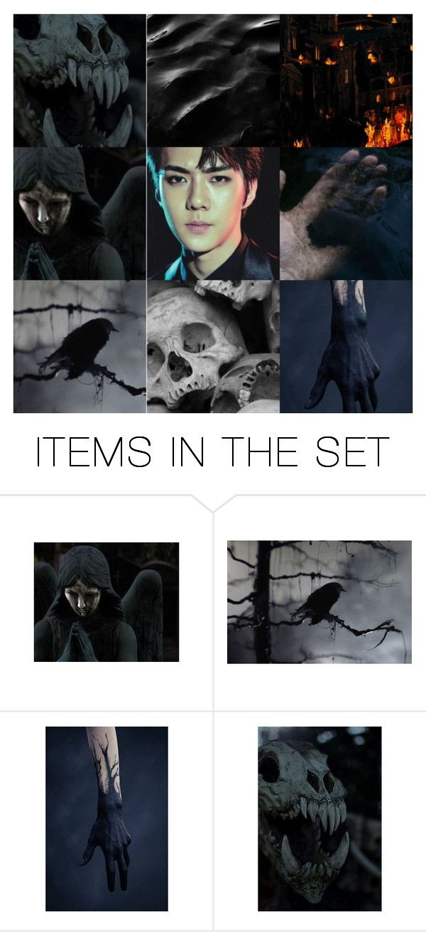 """""""Sehun // son of Hades"""" by hitthisfeeling ❤ liked on Polyvore featuring art, EXO, Sehun and aesthetic"""