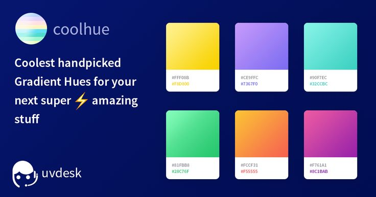 Coolest handpicked Gradient Hues and Swatches for your next super amazing stuff