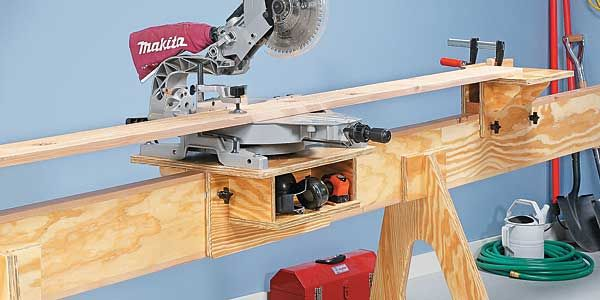 Space-Saving Miter Saw Stand - Take a Closer Look Shop