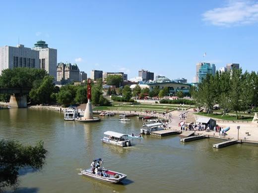 The Forks Waterfront, Winnipeg, Manitoba
