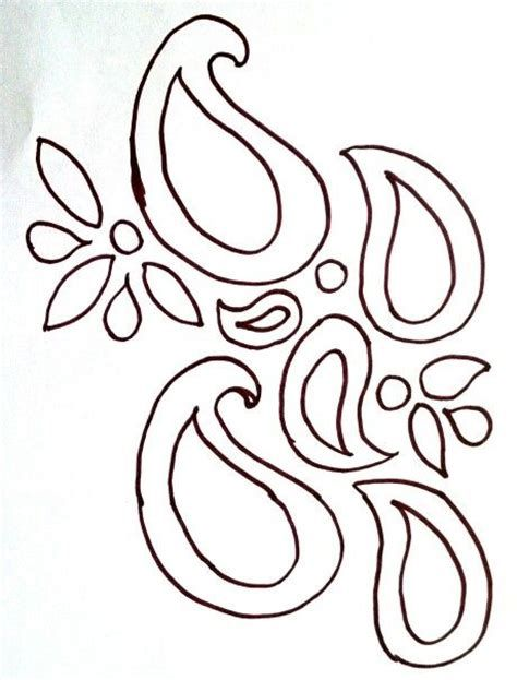 free drawing patterns to trace Pyrography Paisley stencil
