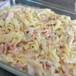 Chicken Cabonara Pasta Bake