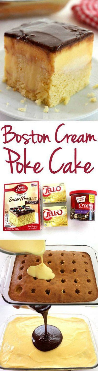 Boston Cream Poke Cake (a SFH dessert!).