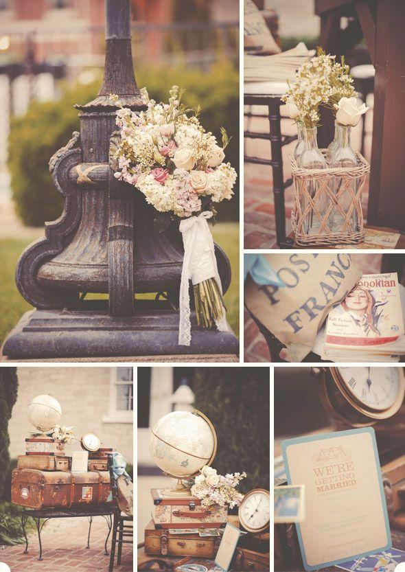 travel wedding theme inspiration