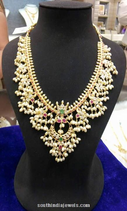 Gold Guttapusalau Necklace from Sree Harsha Jewellers