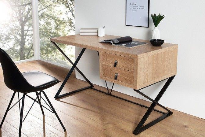 PATRIA - 120cm skrivbord i ek
