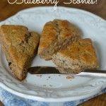 *Whole-Wheat Blueberry Scones (cream)