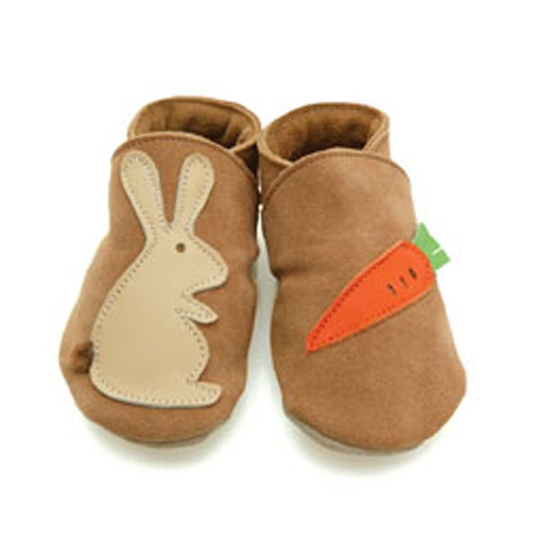 rabbit & carrots soft shoes by Starchild