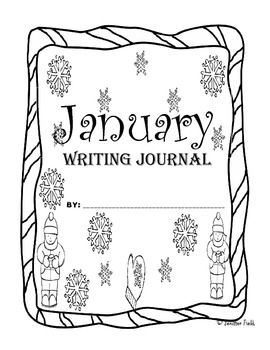 January Second Grade Writing Prompts and Journal Pages