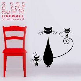 Αυτοκολλητο τοιχου Γατουλες Cats - Livewall.gr