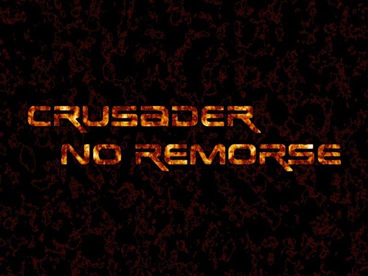 Toujours en 2007, tentative de logo enflammé pour Crusader : No Remorse (effectué avec la police de caractère Earth.ttf).