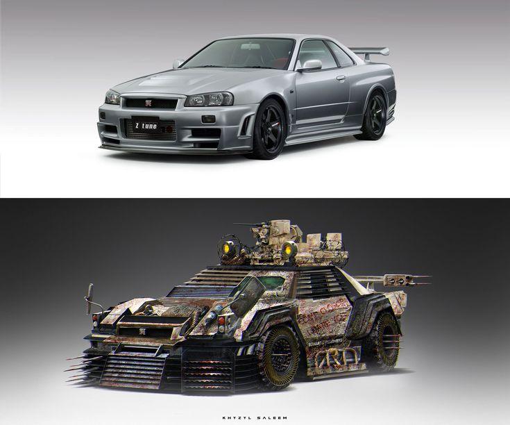 ArtStation - Nissan R34 | Zombie Apocalypse Vehicle, Khyzyl Saleem