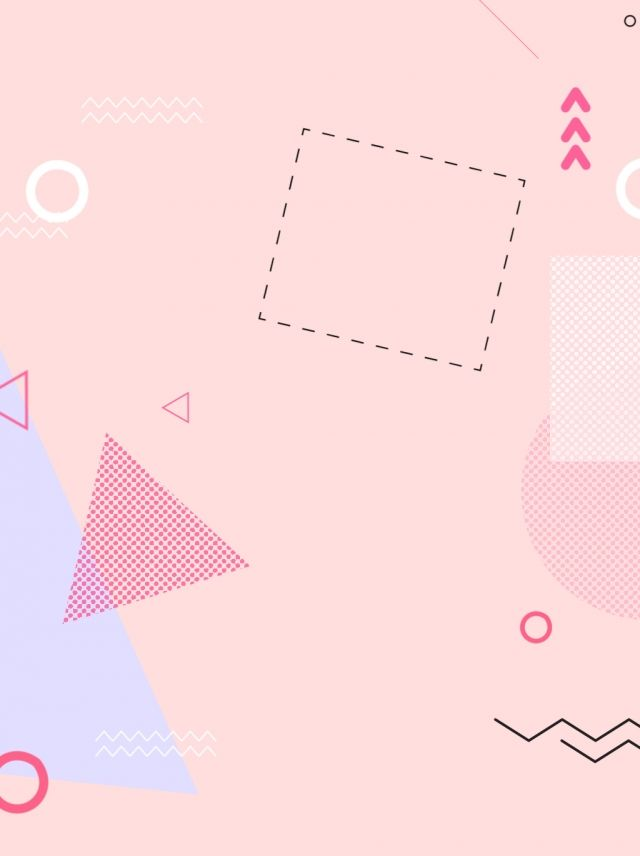 Simple Pink Pop Style Irregular Geometric Background Material