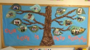 Our love is deep rooted. This family tree bulletin board is a great way to either start the school year or celebrate the fall season