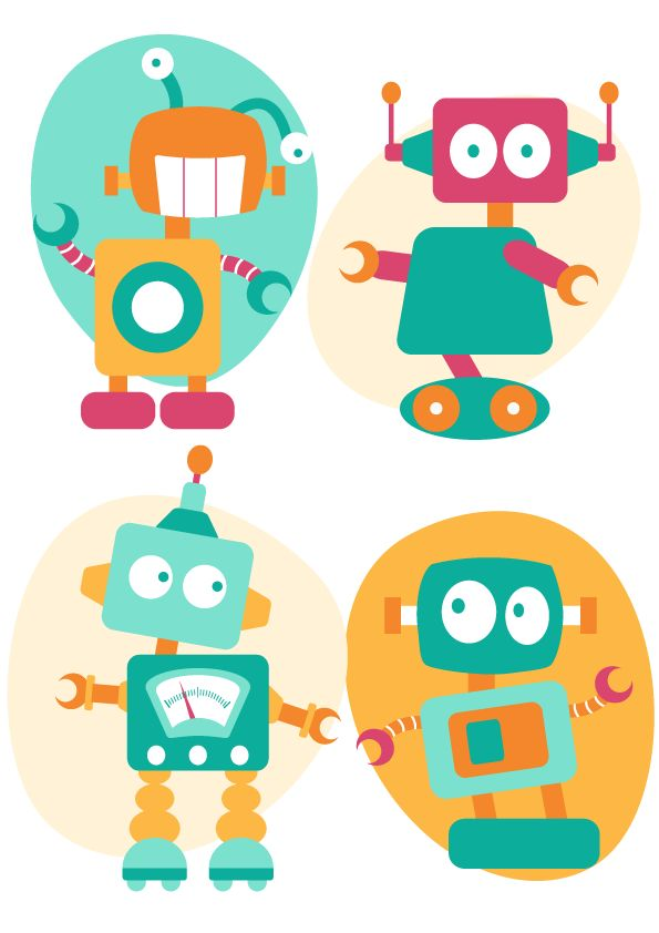Designscrapbook: New robot illustrations