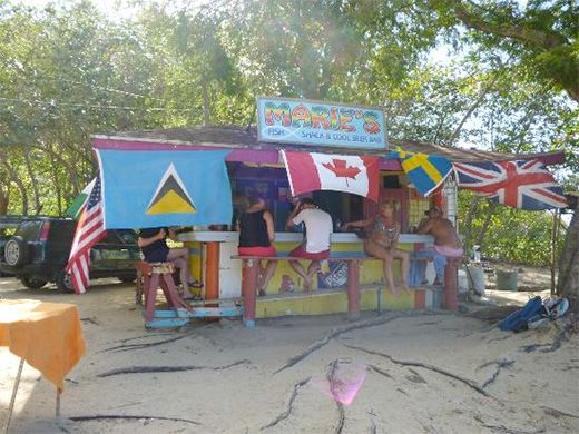 Marie's Fish Shack, Reduit Beach, Rodney Bay St. Lucia  Venture down the beach away from the big hotels to discover the true flavour of the ...