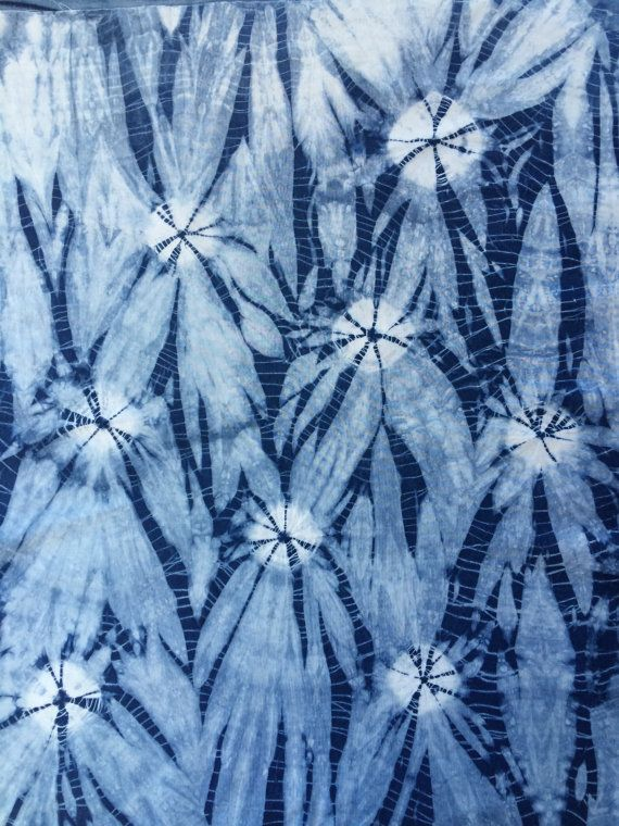 Indigo Shibori Fat Quarter by CapeCodShibori on Etsy