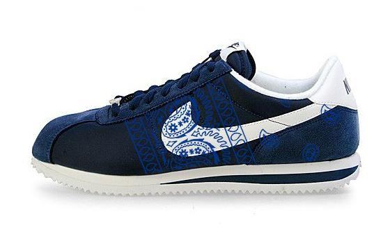 92b1a29c0fce Bandana Fever Royal Blue Bandana Sides Print Custom Navy White Nike Cortez  Shoes