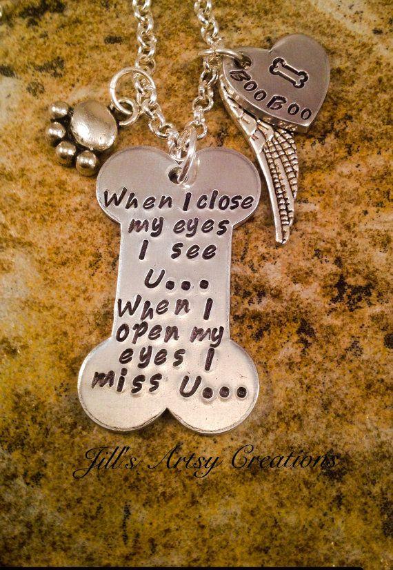 Memorial-Halskette In Memory of Pet von JillsArtsyCreations auf Etsy