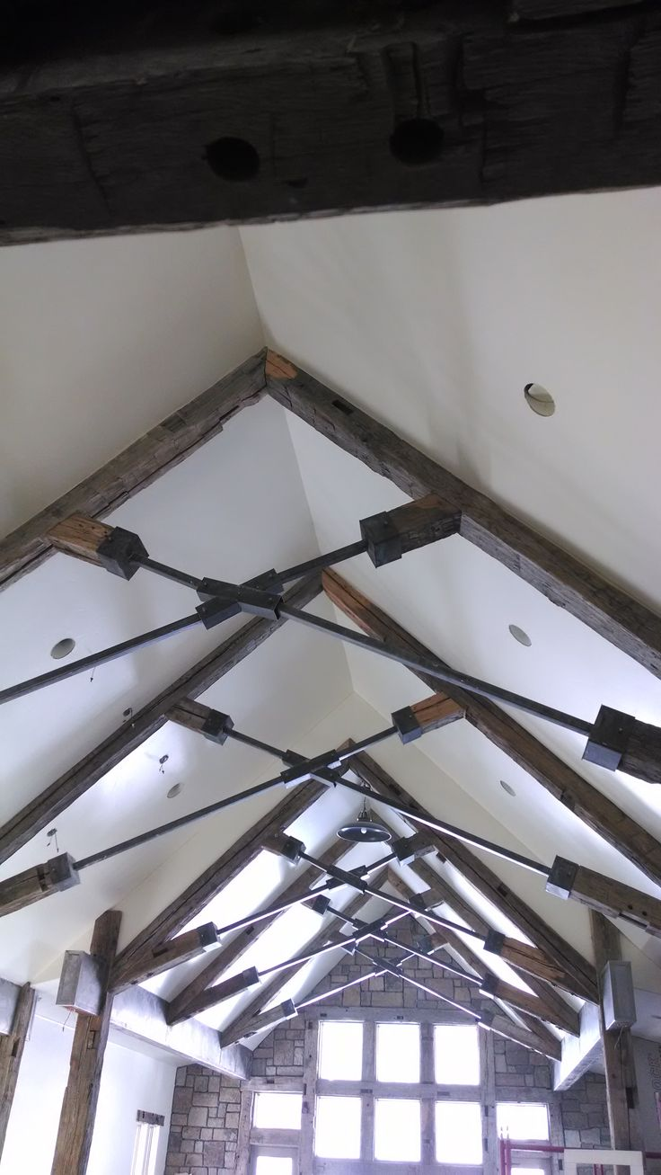 Reclaimed Timber and Steel Trusses Roof truss design