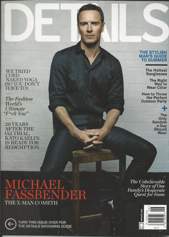 Details magazine Michael Fassbender Fashion Kato Kaelin Grooming guide Watches