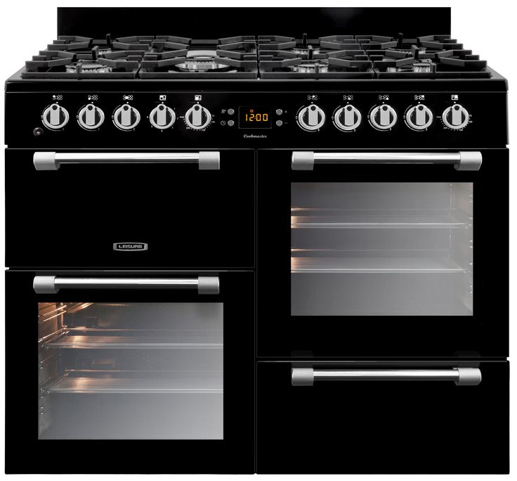 range cooker, gas hob and electric ovens