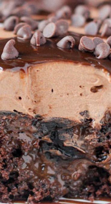 Triple Chocolate Poke Cake