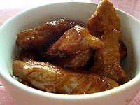 spicy seitan buffalo wings. use frank's for hot sauce. ranch.