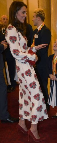 18 Oct 2016 - Duchess of Cambridge attends Team GB reception at Buckingham Palace. Click to read more