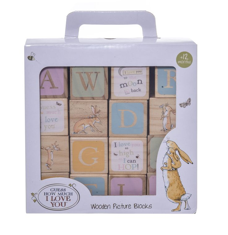 Guess How Much I Love You Guess How Much I Love You Wooden Picture Blocks: Amazon.co.uk: Toys & Games