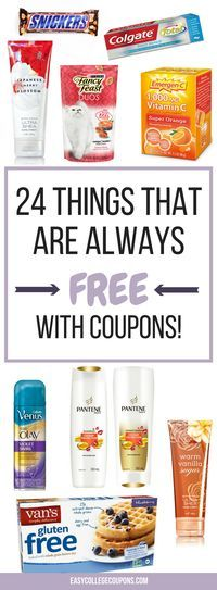 Things that are free with coupons   Free Stuff   Freebies   Couponing for Beginners   Save Money on Groceries or Make Up